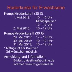 Schnupperruderkurse 2015