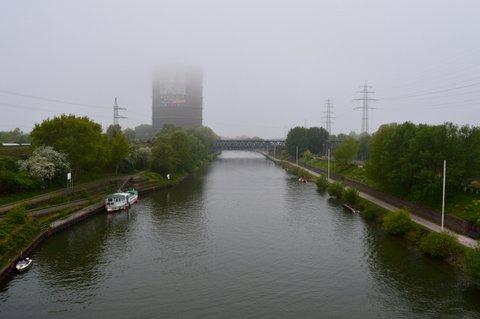 Die Regatta Strecke noch im Nebel...