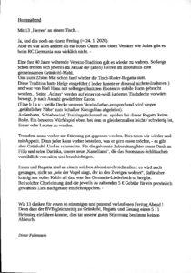 Bericht von Dieter Fallenstein