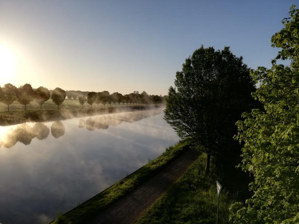 Morgens am Kanal bei km 6,6 ...